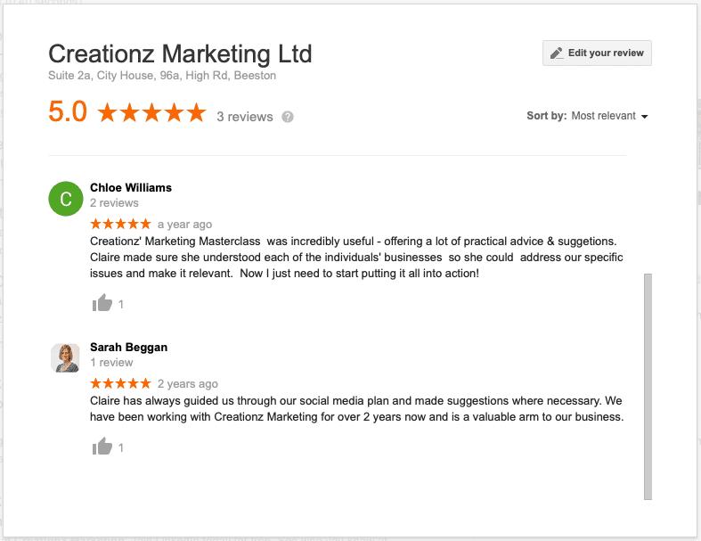 Creationz Marketing Reviews & Testimonials - Nottingham